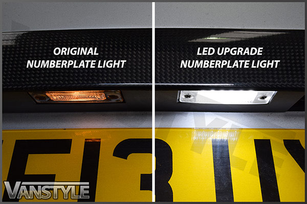 VW T5 T6 - Rear LED Number Plate Lights - Vanstyle