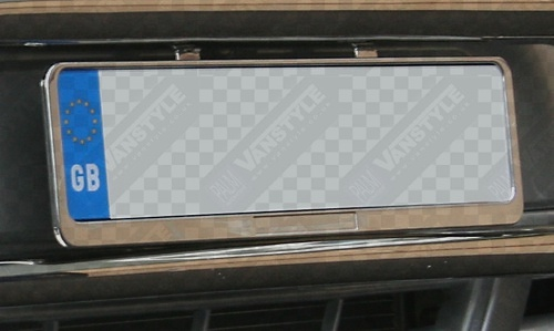 & Stainless Steel Number Plate Holder - Vanstyle