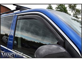 Side Window Deflectors Black (Front) VW T5 03-15