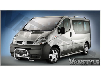 Cobra Side Bars Brushed Stainless SWB Vivaro Trafic Primastar