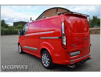 Ford Transit Custom Polished Stainless Steel Side Streamer Trims
