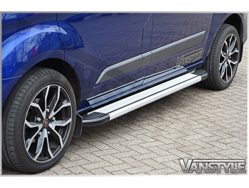 VW T5 & T6 Transporter Silver Side Step Running Board