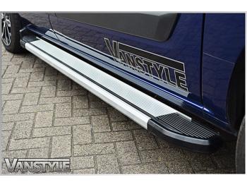Silver Side Step Aluminium Running Boards Mercedes Vito