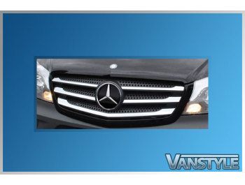 Mercedes Sprinter 5Pcs. Stainless Steel Upper Front Grille Trim