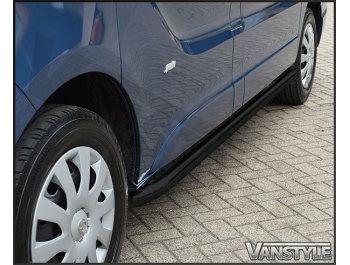Vanstyle 60mm Black Sportline Sidebars Vivaro/Trafic 01-14 & 14>