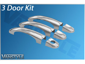 Door Handle Cover Set Stainless Steel - VW T5 T6 & Caddy