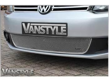 VW Caddy & Maxi 10-15 Mesh Lower Grille Polished/Black - 4 Bar
