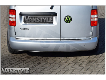 Stainless Steel Rear Bumper Protector, VW Caddy 04-10 & 10-15