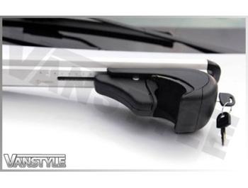 Black or Silver Adjustable Lockable Cross Bar Set