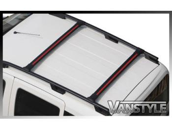 Roof Rail + Cross Bar Set Black Aluminium Ford Transit Custom