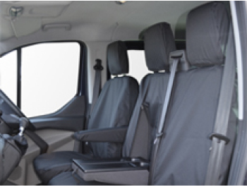 Tailored Leatherette Seat Covers 1+1 Designed to fit the Ford Transit Custom Waterproof Seat Cover Co
