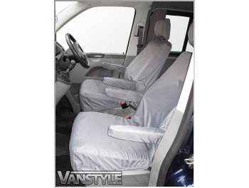 100% Waterproof Tailored Front Seat Covers T5 T6 x2 Singles 1-1