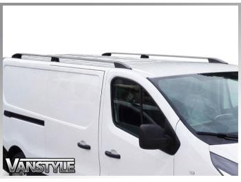 Vivaro 14>19 & Trafic 14> Aluminium Silver Roof Styling Bars