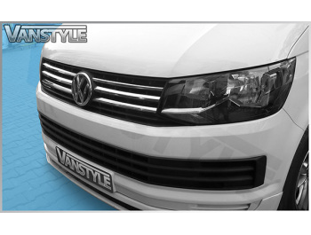 VW T6 Transporter 4 Pcs. Stainless Steel Grille Trim
