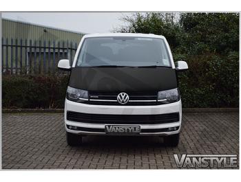 VW T6 T6.1 2015> Full Length Bonnet Bra - Plain Black