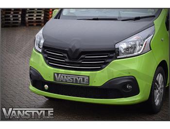 Renault Trafic 2014> Full Length Chequerboard Effect Bonnet Bra
