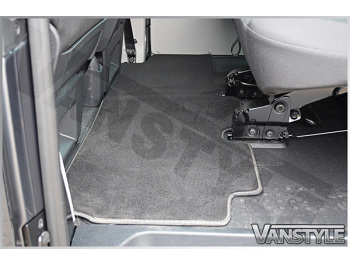 VW T5 & T6 Rear Carpet Mat Single Sliding Door Bench Seat