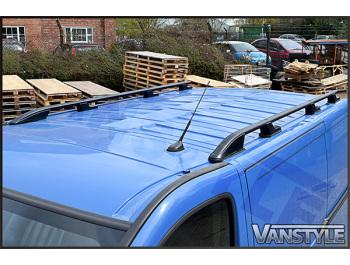 Vivaro/Trafic/Primastar Aluminium Black Roof Styling Bars