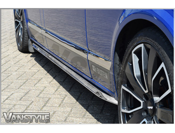 Genuine VW Polished Angled Trapezoid Side Bars