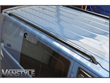 Black Powder Coated Roof Bars (One Piece) - Ford Transit Mk6/7