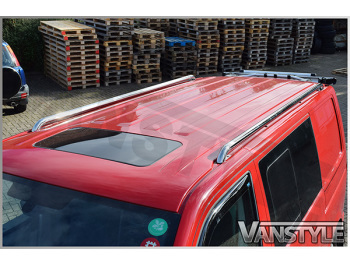 Polished Stainless Steel Roof Rail Set - Ford Transit Mk6/7