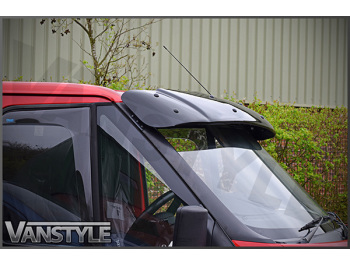 Black Acrylic High Impact Sun Visor - Ford Transit Mk6 & Mk7