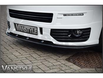 VW T5 10-15 Sportline Style Front Spoiler + Lower Splitter