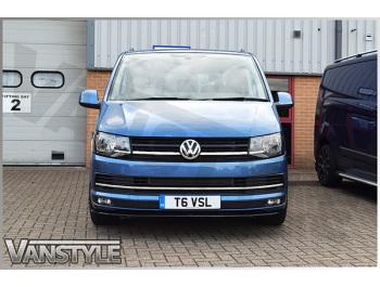 VW T6 Stainless Steel Polished Front Lower Radiator Grille Trim