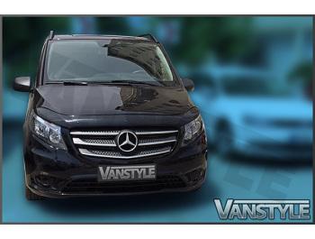 Mercedes Vito W447 2014> Black Bonnet Wind Deflector
