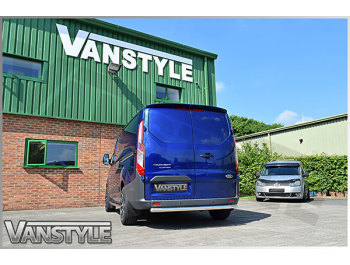 60mm Polished Stainless Steel Rear Bar - Ford Transit Custom
