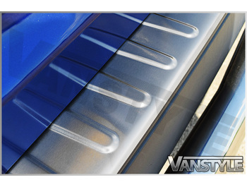 Bumper Protector Rear \'Brushed\' Stainless Steel Transit Custom