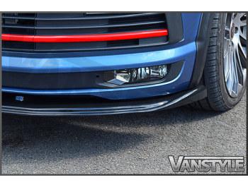VW T6 2015> ABS Gloss Black Lower Front Lip Splitter