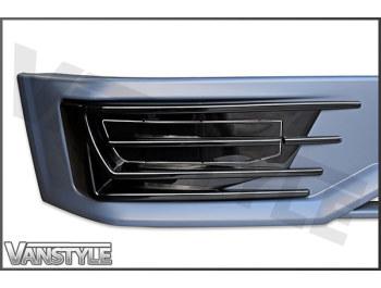 VW T6 Sportline Style Front Splitter + Fog Light Pods