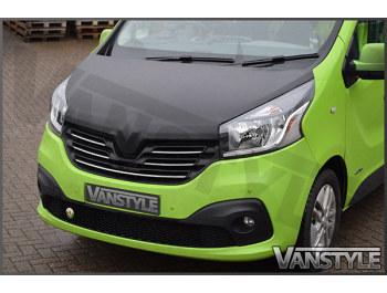 Renault Trafic 2014> Full Length Carbon Effect Bonnet Bra
