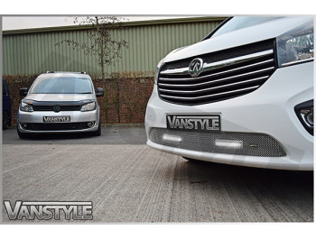 Zunsport DRL Lower Mesh Grille - Polished Stainless Steel Vivaro