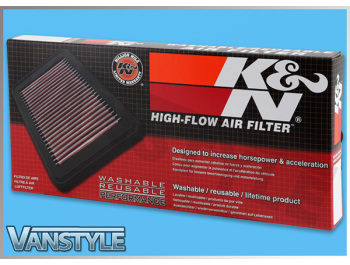 K&N Replacement Air Filter - VW Caddy 06-09 1.4L 80Bhp