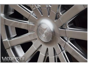 "Wolfrace Renaissance Silver Polished 18\"" VW T5 T6 Wheel & Tyre"