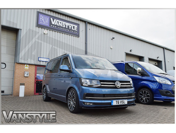 VW T6 Stainless Steel Polished Front Upper + Lower Grille Trim