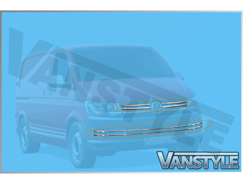 VW T6 Startline Front Upper + Lower Stainless Grille Trim