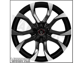 Wolfrace Assassin Black & Polished 18x8 VW Caddy Wheel & Tyre