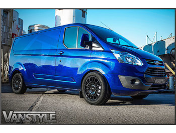 "Calibre T-Sport 18\"" Gloss Black Transit Custom Wheels & Tyres"