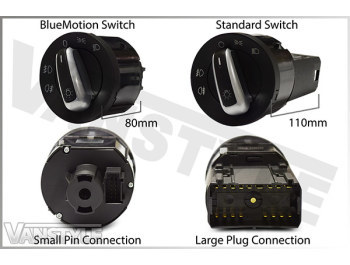 Auto Headlight Switch & Module VW T5 BlueMotion, T6 & Caddy