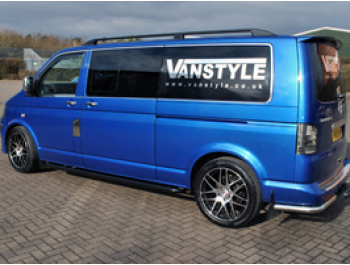 Vanstyle Sport 60mm Black Steel Sidebars VW T5 T6 - Black