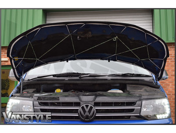 VW T5 2010-15 - Full Bonnet Bra - Plain Black