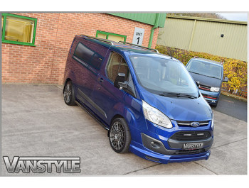 Roof Rail Set Stainless Steel Polished - SWB Ford Transit Custom