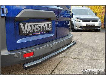 60mm Black Steel Rear Bumper Protection Bar Transit Custom