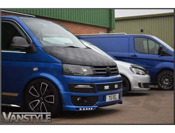 VW T5 2010-15 - Full Bonnet Bra - Chequered