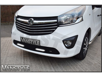 Zunsport DRL Lower Mesh Grille - Black Stainless Steel Vivaro