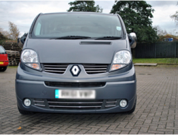 Stainless Steel Upper Front Grille Set Renault Trafic 07>