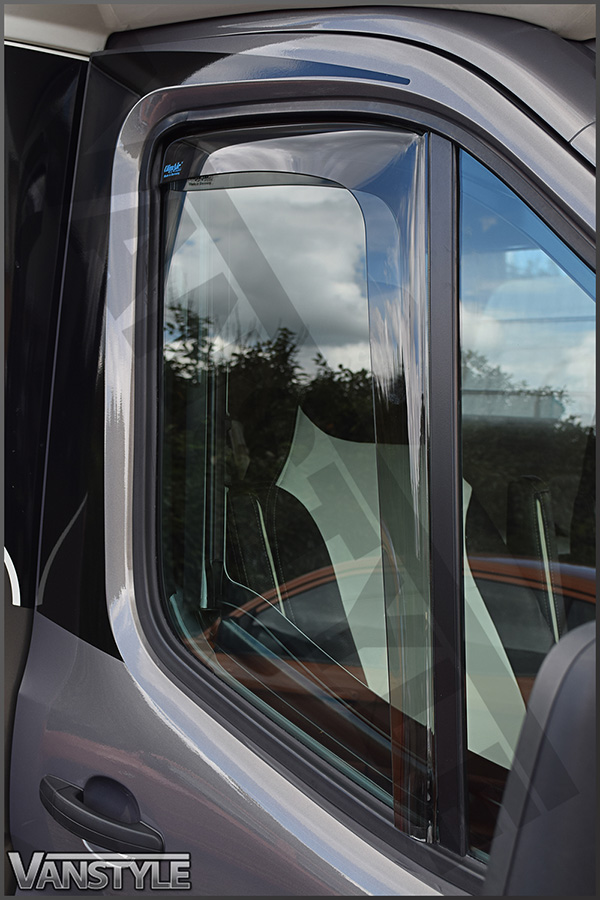 Ford Transit Mk8 Side Window Wind Deflectors 2014 Vanstyle